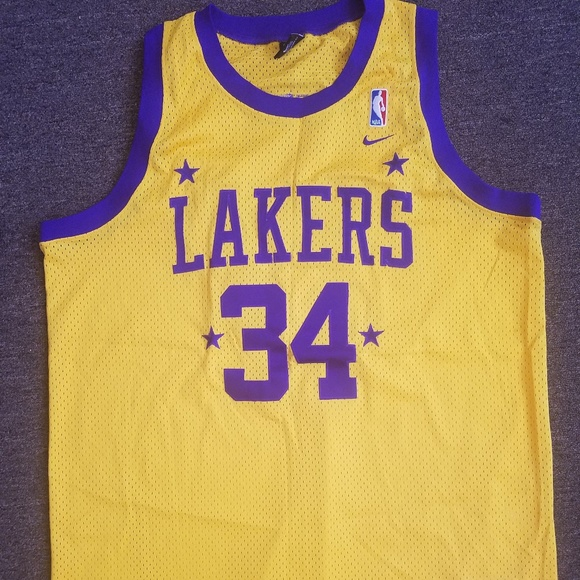 Vintage Nike Shaquille O Neal Lakers Jersey. M 5a92fc283800c577eec9b2bc e71ed79f4